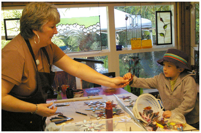 Sharon Swanson at the Blaine Artist Studio Tour in 2010